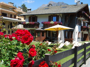 Apartments in Bormio with garden