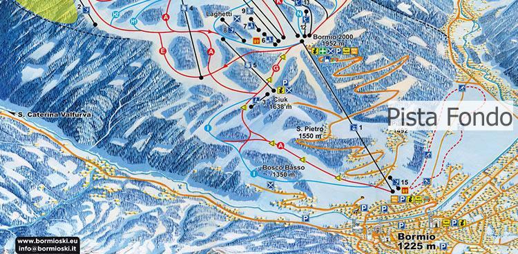 la pista di sci da fondo di Bormio